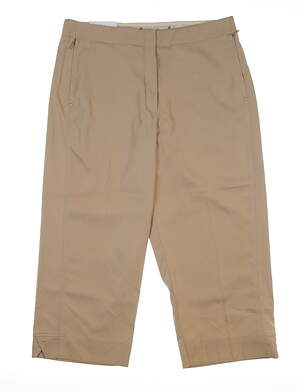 New Womens Tail Golf Capris 8 Tan MSRP $80