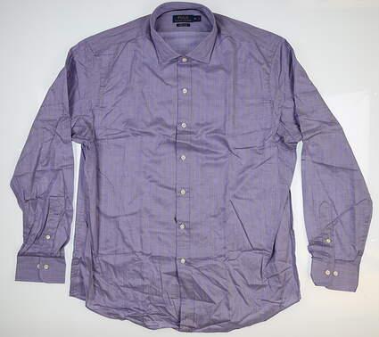 New Mens Ralph Lauren Button Up X-Large XL Purple MSRP $125