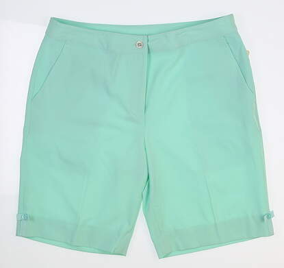 New Womens EP Pro Golf Shorts Size 12 Green MSRP $80