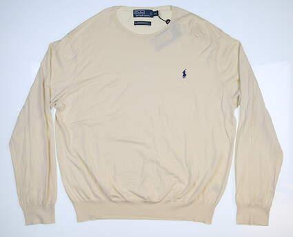 New Mens Ralph Lauren Sweater XX-Large XXL Cream MSRP $98