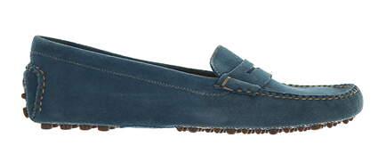 New Womens Shoe Peter Millar Suede Loafer Medium 8.5 Blue MSRP $200