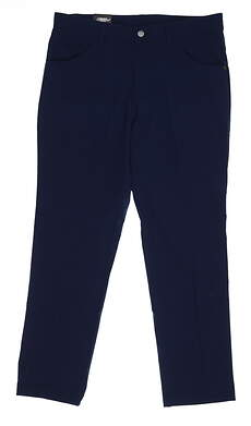 New Adidas Mens Slim Golf Pants 36x30 Navy Blue CD9811 MSRP $85