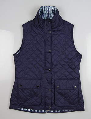 New Womens Peter Millar Golf Vest Medium M Blue MSRP $169 LF17EZ01C