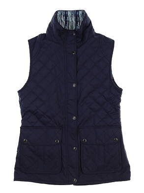New Womens Peter Millar Golf Vest X-Small XS Blue MSRP $169 LF17EZ01C