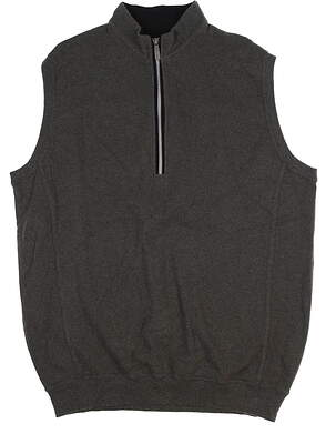 New Mens Straight Down Vest Large L Gray MSRP $100