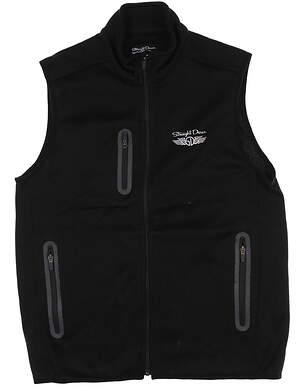New Mens Straight Down Golf Vest Large L Black MSRP $80