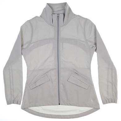 New Womens Straight Down Jacket Medium M Gray W60262 MSRP $160
