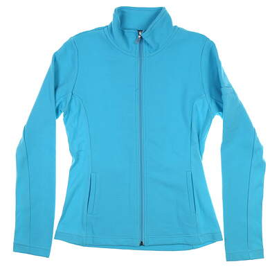 New Womens Straight Down Swing Jacket Medium M Blue W60118 MSRP $94
