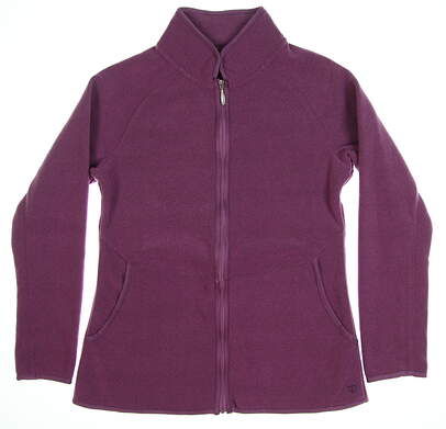 New Womens Straight Down Golf Jacket Medium M Purple MSRP $104 W60263