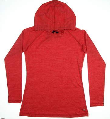 New Womens Straight Down Sweatshirt Small S Red MSRP $96 W60300