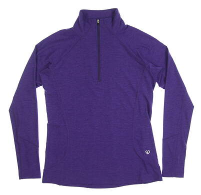 New Womens Straight Down Golf 1/4 Zip Pullover X-Small XS Purple MSRP $80 W14220