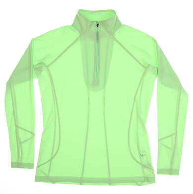 New Womens Straight Down Golf1/4 Zip Pullover Small S Green MSRP $80 W14220