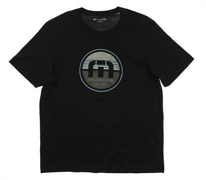 New Mens Travis Mathew B-Stern Golf T-Shirt Small S Black MSRP $40 1MO277