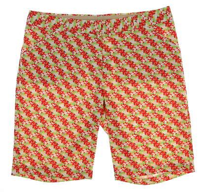New Womens Peter Millar Golf Shorts Size 12 Multi MSRP $99 LS16EB01E