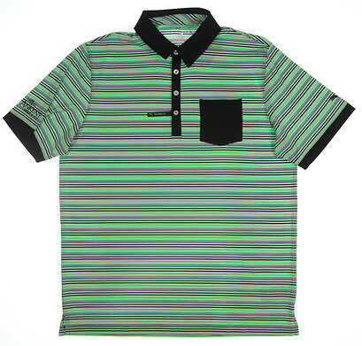 New W/ Logo Mens Puma Golf Polo Large L Multi MSRP $70