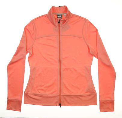 New Womens Puma Golf Jacket Large L Coral MSRP $80
