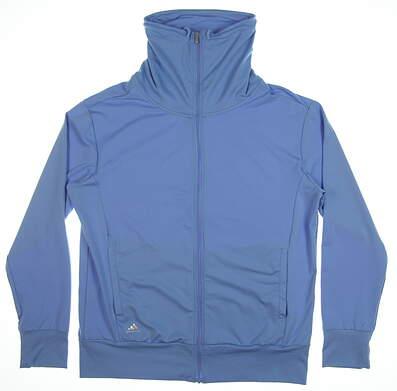 New Womens Adidas Climawarm Jacket Medium M Blue MSRP $75 Z98041