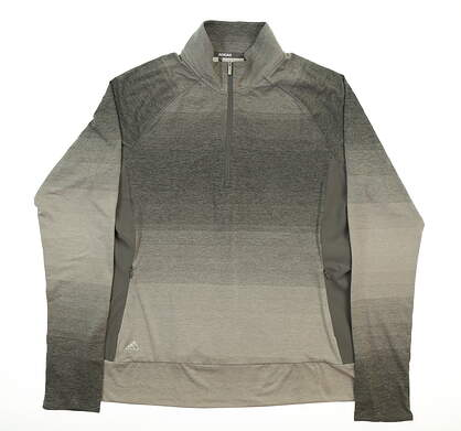 New Womens Adidas Rangwear 1/2 Zip Pullover Large L Gray MSRP $75 CE2998