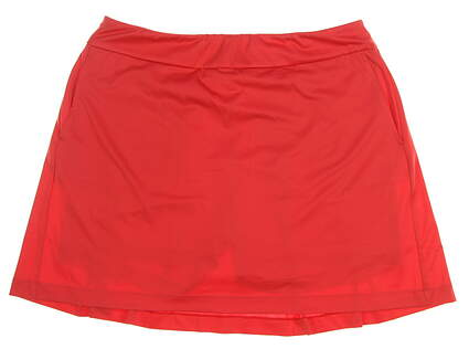 New Womens EP NY Back Pleat Pull On Skort Size Large L Chili Pepper MSRP $83 NS1000