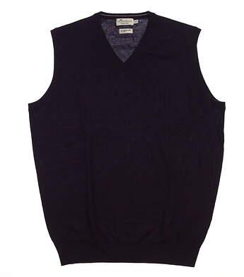 New Mens Peter Millar Sweater Vest Medium M Purple MSRP $110