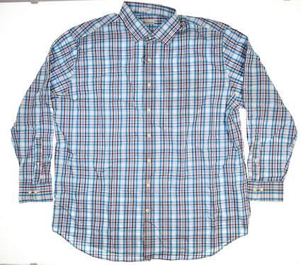 New Mens Peter Millar Button Up XX-Large XXL Blue MSRP $120