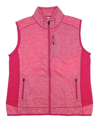New W/ Logo Womens Vineyard Vines Fairwinds Vest Large L Rhododendron 6O0196