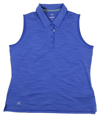 New Womens Adidas Ultimate Sleeveless Polo X-Large XL Blue MSRP $55 CE3073