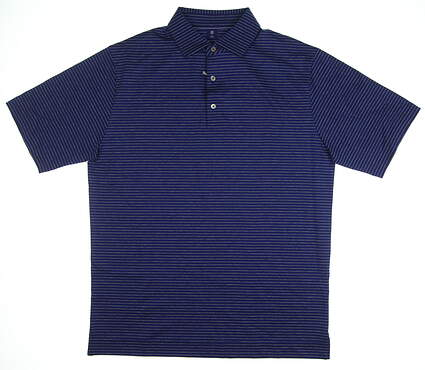 New Mens Footjoy 1857 Collection Golf Polo Medium M Ink/Grey MSRP $135 25643