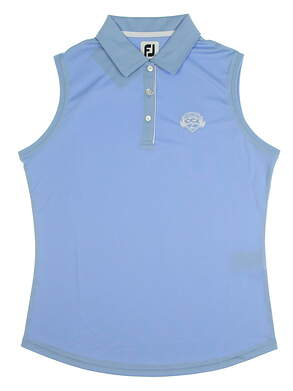 New W/ Logo Womens Footjoy Golf Sleeveless Polo X-Large XL Blue MSRP $72 27075