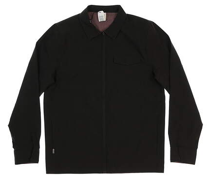 New Mens Travis Mathew Battery Jacket X-Large XL Black MSRP $165 1MP125