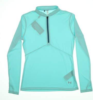 New Under Armour Golf 1/2 Zip Pullover Teal MSRP $69 UW1435