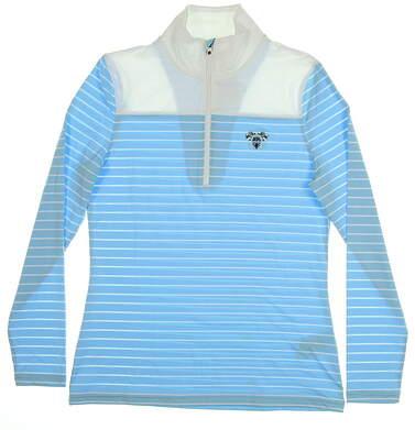 New W/ Logo Womens Footjoy Stripe 1/2 Zip Pullover Small S Multi MSRP $80 27569