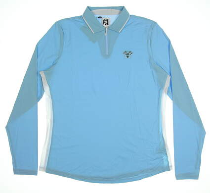 New W/ Logo Womens Footjoy Sun Long Sleeve Polo X-Large XL Blue MSRP $95 27564