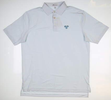 New W/ Logo Mens Peter Millar Golf Polo Large L Multi MSRP $92 MF18EK12S