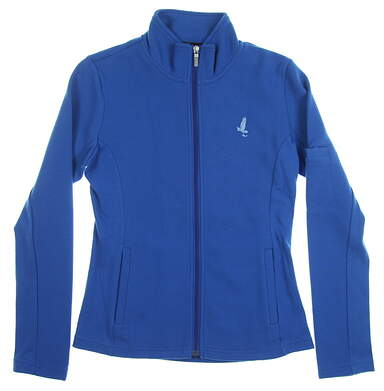 New W/ Logo Womens Straight Down Golf Jacket Medium M Blue MSRP $118 W60118
