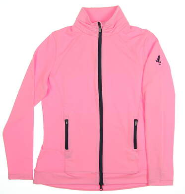 New W/ Logo Womens Peter Millar Golf Jacket Large L Fizz MSRP $120 LS18EK15