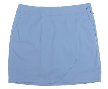 New Womens EP NY Faux Wrap Golf Skort Size 10 Blue MSRP $85 1330NCC