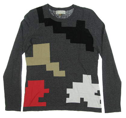 New Womens EP NY Puzzle Intarsia Sweater Medium M Multi MSRP $96 4341NCD