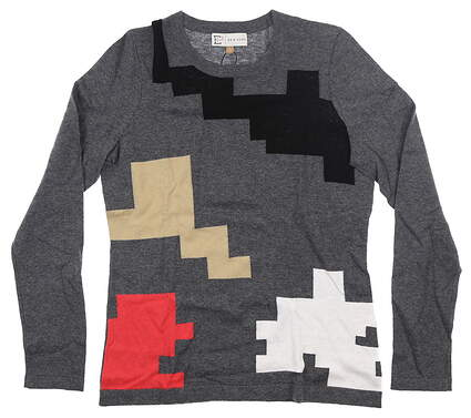 New Womens EP NY Puzzle Intarsia Sweater Small S Multi MSRP $96 4341NCD