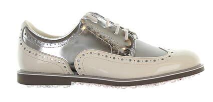 New Womens Golf Shoe G-Fore Brogue Gallivanter Medium 7.5 White/Grey MSRP $225