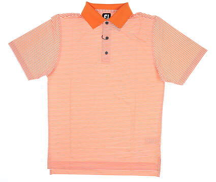 New Mens Footjoy Golf Polo Small S Orange/White 32729 MSRP $75