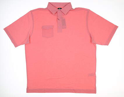 New Mens Footjoy Golf Polo X-Large XL Pink MSRP $75