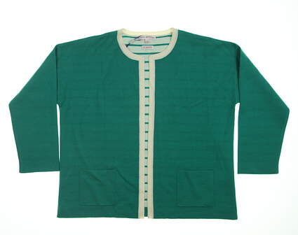 New Womens Peter Millar Cardigan Small S Emerald Green LF15S09 MSRP $165