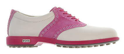 New Womens Golf Shoe Ecco Classic Hybrid 38 (7-7.5) White/Pink MSRP $220