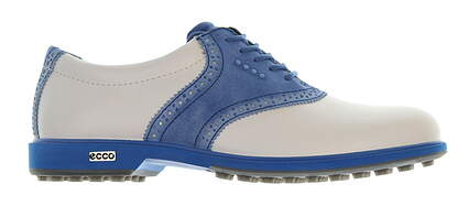 New Womens Golf Shoe Ecco Classic Hybrid 39 (8-8.5) White/Blue MSRP $220
