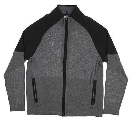 New Mens Fairway & Greene The Gladiator Full Zip Rainsweater Medium M Gray I11241