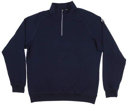 New W/ Logo Mens Fairway & Greene Old School 1/4 Zip X-Large XL Navy Blue E31520