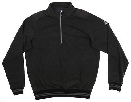 New W/ Logo Mens Fairway & Greene The Chief Herringbone 1/4 Zip Pullover Large L Gray I11521