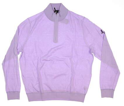 New W/ Logo Mens Fairway & Greene McCallan Blend 1/4 Zip Sweater Large L Purple H31290