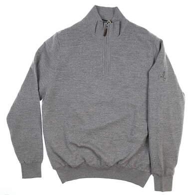 New W/ Logo Mens Fairway & Greene Merino 1/4 Zip Sweater Medium M Gray MSRP $198